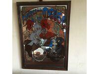 Large 1970's art nouveau mirror