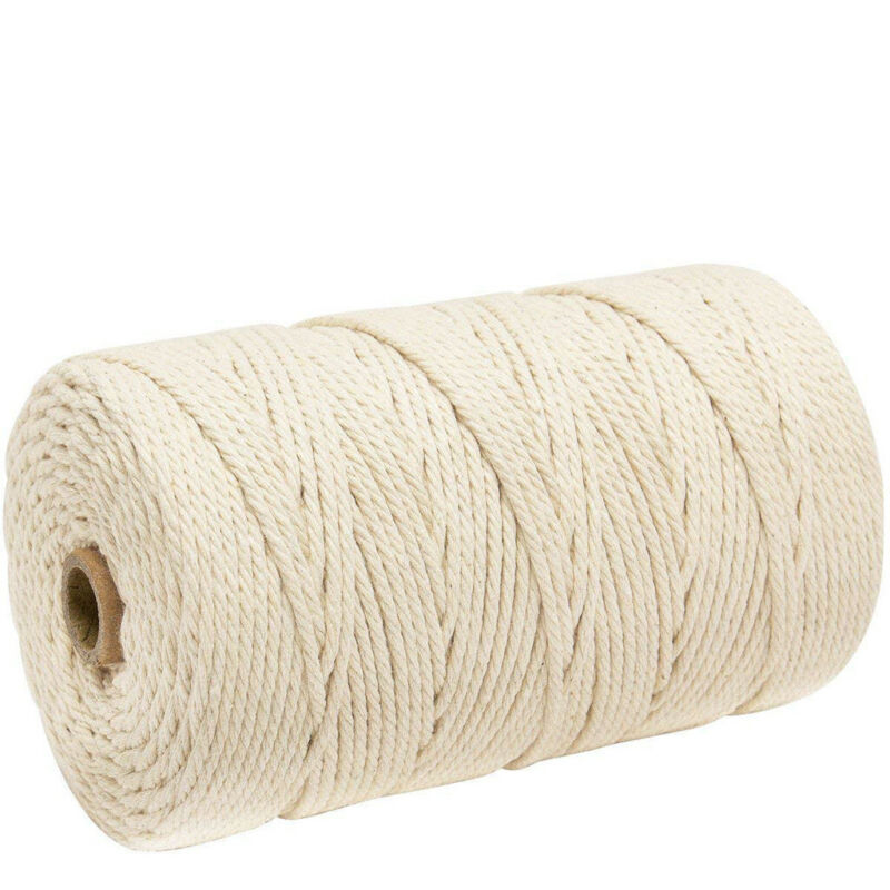 3mm x 200m Macrame Cotton Cord for Wall Hanging Dream Catche