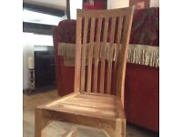 Dining room chairs heavy solid wood x 6.