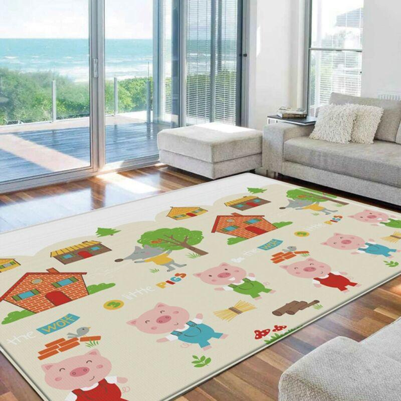 Chrismas Cartoon Children Double-Sided Large Crawling Mat Baby Indoor Play Mat A - $24.69