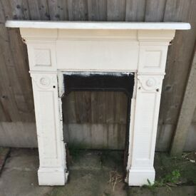 Wrought iron fire surround