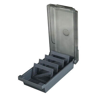 L Business Card File Holder Organizer Box Case With Divider 20 A-z Guides