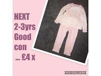 NEXT girls pyjamas 2-3 years ❤️