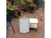 Tea trolley. Pattern is Summer Chintz 3 tiers .Detacable top try. Exc cond