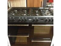 Black 8 burner gas cooker (dual fuel)
