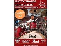 Signature Drummer. Matty Brown Drum Clinic