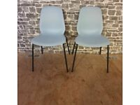 2x Blue Chairs