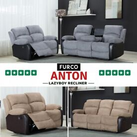 🤩🤩NEW ANTON RECLINER SOFA SET| 0% FINANCE & PAY WEEKLY AVAILABLE--BOOK NOW🤩