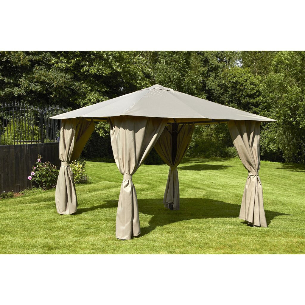 3m X 3m Beige Sturdy Semi Permanent Gazebo Never Been