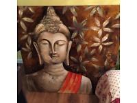 HUGE BUDDHA CANVAS and free buddha