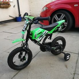 "Child's bike with stabilisers 12"" wheels - immaculate"