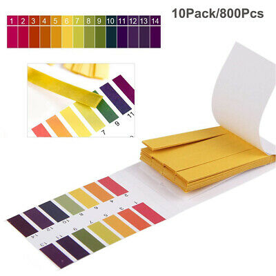 800strips Full Ph 1-14 Test Paper Water Soil Wine Cosmetic Test Healthcare Lab