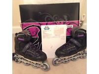 Woman SFR RX23/2 Inline Skates in Purple and Black. Size 6 to suit normal size 5.