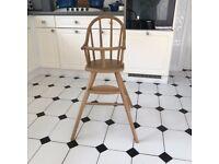 Vintage Ikea Wood High Chair
