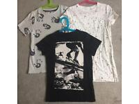 T-shirts, age 8, from Next & John Lewis