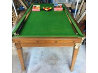 SNOOKER TABLE 6' x 3' SLATE BED
