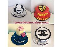 £1 cupcakes, £35 celebration cakes, £45 wedding cakes, giant cupcakes £35