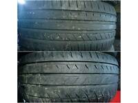 Pair of 205/45/16 tyres both with good tread