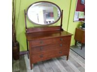 Edwardian Style Oak Dresser With Mahogany Veneer - can deliver for £19 for sale  Lancing, West Sussex