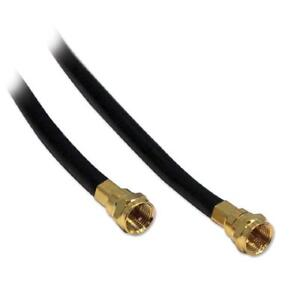 25 ft. BlueDiamond RG6 F-Type Video Coaxial Cable - Double Shielded - Black