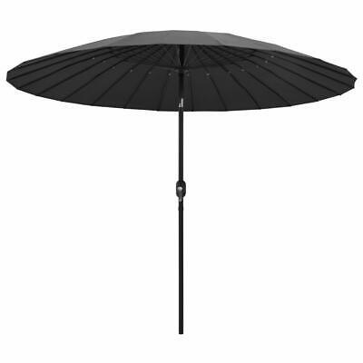vidaXL Outdoor Parasol with Aluminium Pole 270cm Anthracite Garden Umbrella