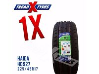 1 x New 225/45R17 Haida Tyre - 225 45 17 - Fitting Available
