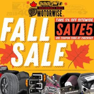5% OFF at www.motorwise.ca | Engine Parts, Tonneau Covers, Exhaust, Intakes, Floor Liners, Lift Kits, Leveling Kits