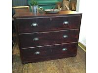 Rustic Victorian antique chest of drawers
