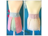 Set of Two kitchen Aprons p&p included, pinny, half apron, floral apron, kitch apron