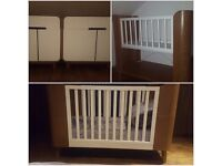 Nursery Furniture Set from Mothercare - Cot, Crib/shelving unit and 2 cupboards