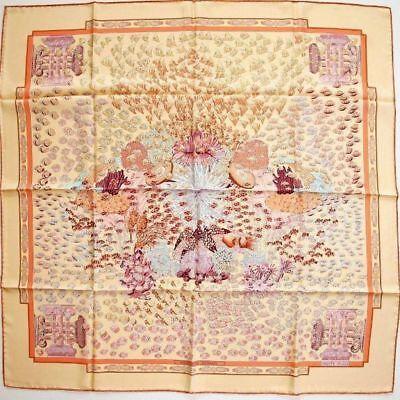 Hermes 2001 cw06 Yellow-Orange Rencontre Oceane Twill 90