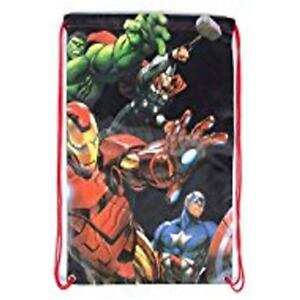Marvel Avengers Ane of Ultron Foldable Cinch Bag, Red Gym Bag