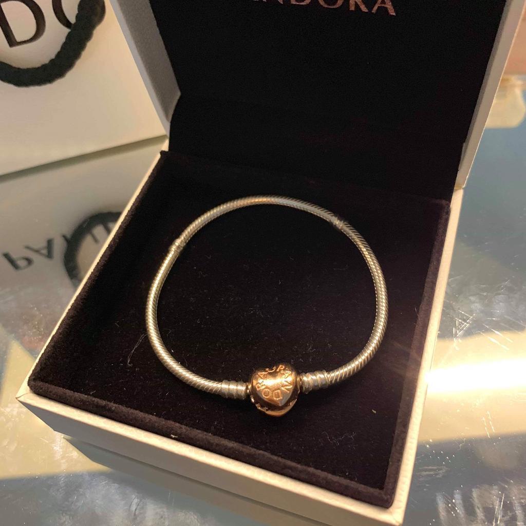 ac6d2b21da1db PANDORA Moments Silver Bracelet, Rose Heart Clasp | in Leamington Spa,  Warwickshire | Gumtree