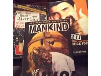 Three MICK FOLEY WWE hardback autobiographies
