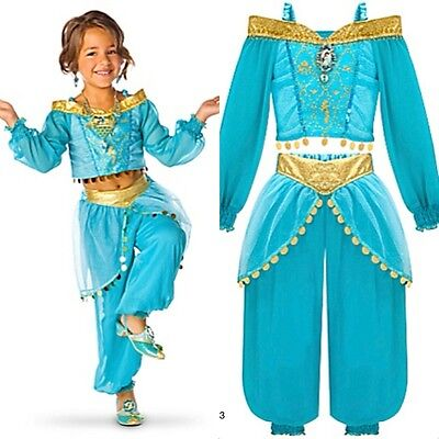 Disney Store Princess Jasmine Costume Dress Halloween Arabian Dress Up SIZES NEW - Arabian Princess Halloween
