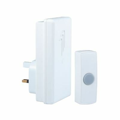 Byron DB302 Wireless Plug In Door Bell Chime Kit - 30m Range