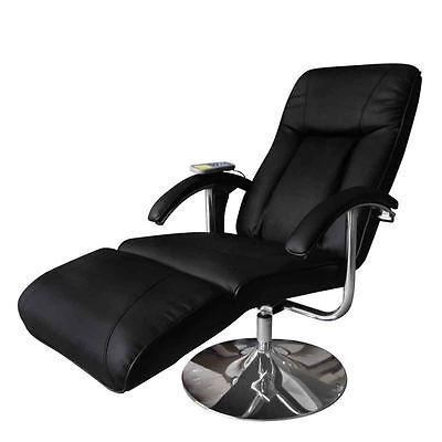 Executive Massage Chair Armchair Leisure TV Recliner Swivel Heated Seat Black