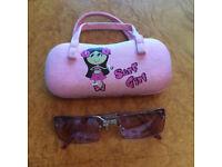 New - Girl's sunglasses in Surf Girl hard case