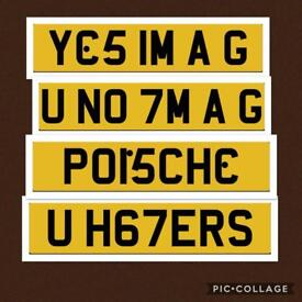 YES IM A G - U KNOW IM A G - U HATERS PRIVATE NUMBER PLATE PLATES REGISTRATION PORSCHE NO OFFERS
