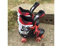 Kids Roller Boots , Rollerboots, Rollerskates, Roller skates adjustable size 3 to 5