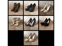 Selection of size 3 shoes heels Miss KG / River Island / New Look