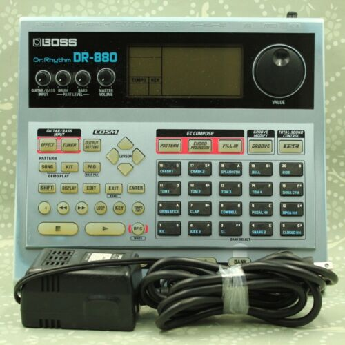 BOSS DR-880 Dr. Rhythm Drum Machine With AC adapter