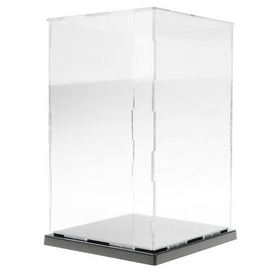 Clear Acrylic Display Case Perspex Plastic Show Box Dustproof 8-16 Height
