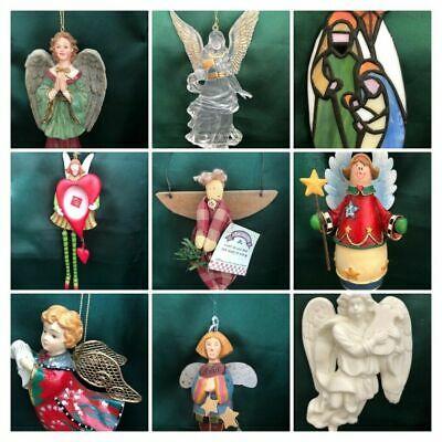 ASSORTED CHRISTMAS ORNAMENTS - ANGELS, NATIVITY, CHOIR - YOU CHOOSE! Assorted Angels Ornament