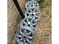 4 x Mini lite Alloys Wheels 15""