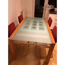 Dinning table (4-10ppl) + 6 chairs