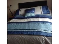 Duvet set (double bed) with curtains and accessories