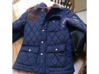 Boys Navy Joules coat
