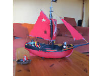 Playmobil pirate ship plus many people and extras