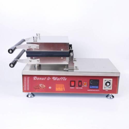 NZL 110V Commercial Nonstick Electric Donut Machine Fryer Digital Mould Making